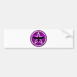 Pentagramme de corneille - pourpre autocollant pour voiture