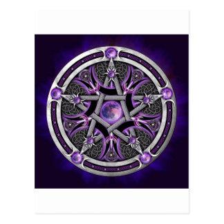 Pentagramme de la lune pourpre carte postale