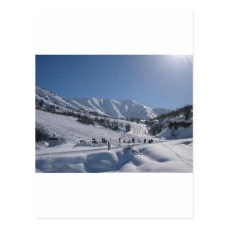 Pente de ski de Chimgan Carte Postale