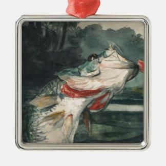 Perche noire Winslow Homer Ornement Carré Argenté
