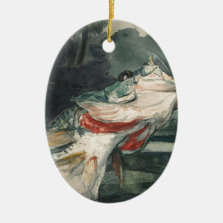 Perche noire Winslow Homer Ornement Ovale En Céramique