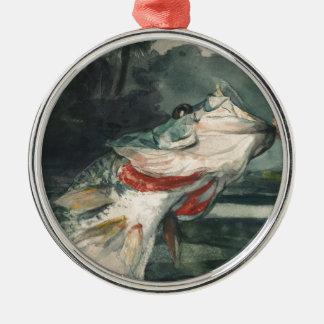 Perche noire Winslow Homer Ornement Rond Argenté
