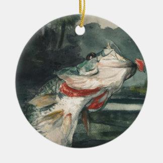 Perche noire Winslow Homer Ornement Rond En Céramique