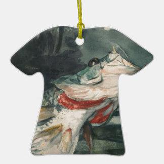 Perche noire Winslow Homer Ornement T-shirt En Céramique