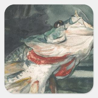 Perche noire Winslow Homer Sticker Carré