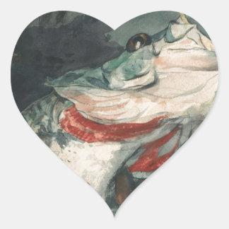Perche noire Winslow Homer Sticker Cœur