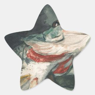 Perche noire Winslow Homer Sticker Étoile