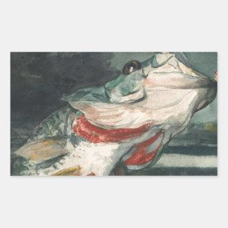 Perche noire Winslow Homer Sticker Rectangulaire