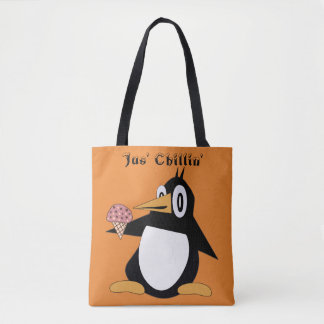Percius Editable le pingouin avec le sac
