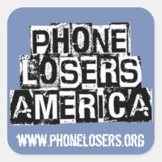 Perdants de téléphone de l'Amérique par Derreck Sticker Carré