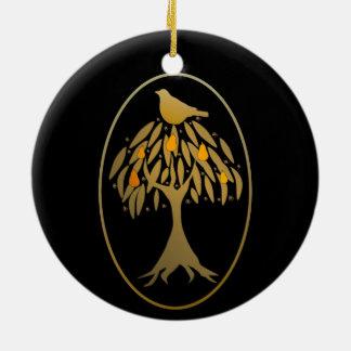Perdrix dans un or de poirier décorations de noël