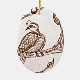 Perdrix dans un poirier décorations pour sapins de noël
