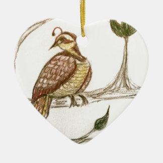 Perdrix dans un poirier vert décorations pour sapins de noël