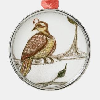 Perdrix dans un poirier vert décoration pour sapin de noël