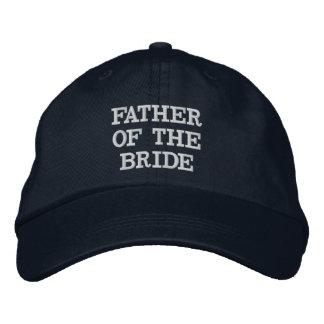 Père de bleu marine du casquette réglable de jeune casquette brodée