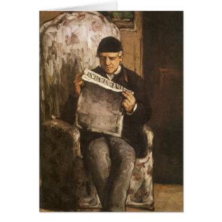 Père de Louis Auguste Cezanne de la lecture Carte De Vœux