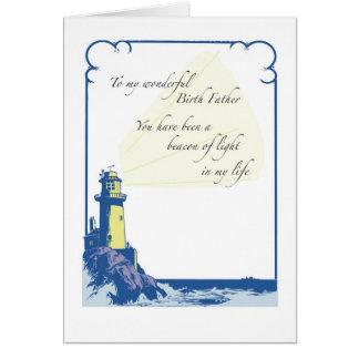 Père de naissance de phare, fête des pères carte de vœux