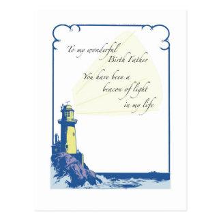 Père de naissance de phare, fête des pères carte postale
