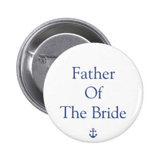 Père des boutons nautiques de mariage de jeune badge rond 5 cm