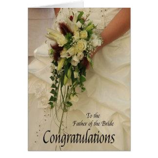 père des félicitations de jeune mariée carte de vœux