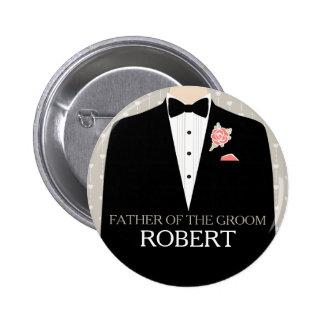 Père du bouton de goupille de mariage de nom de sm badge rond 5 cm