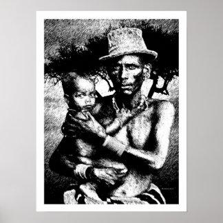 Père et enfant poster