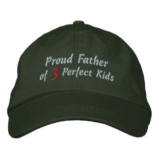 Père fier des enfants parfaits casquette brodée