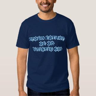 Père fier d'un fils autiste t-shirts