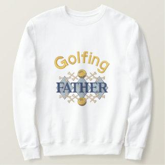 Père jouant au golf sweat-shirt brodé