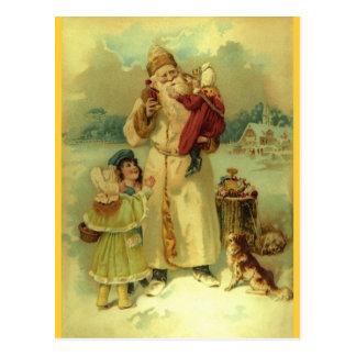 Père Noël 1897 St vintages Nick Carte Postale