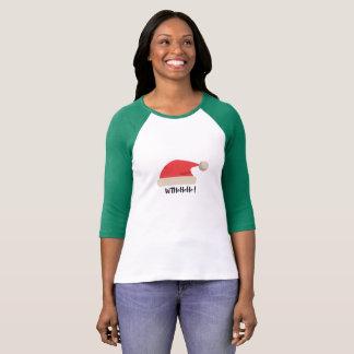 Père Noël 3/4 T-shirt de douille