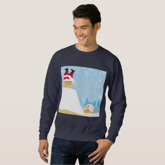 père Noël a collé dans le sweatshirt des hommes de