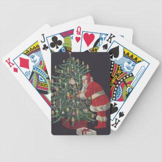 Père Noël à l'arbre de Noël Jeu De Cartes