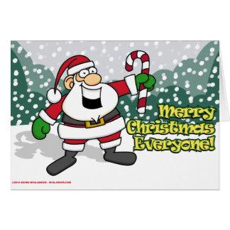 Père Noël avec du sucre de canne Carte De Vœux