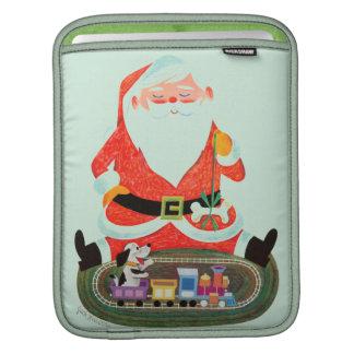 Père Noël avec le train Housses iPad