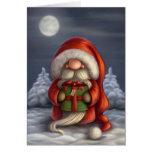 Père Noël avec un cadeau Cartes De Vœux