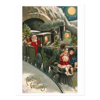 """""""Père Noël carte postale vintage de Noël sur"""
