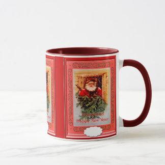 Père Noël dans la fenêtre Mugs