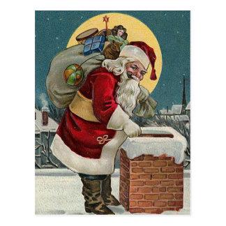 """""""Père Noël descendant carte postale de la"""