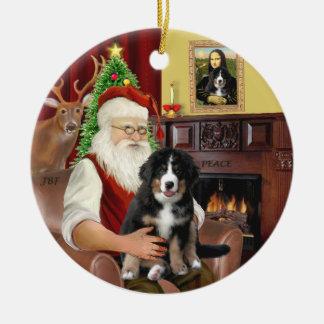 Père Noël + DM de Mona Lisa - de Bernese - diff 2. Ornement Rond En Céramique