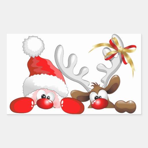 Père Noël drôle et autocollant de bande dessinée | Zazzle