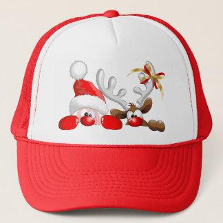 Père Noël drôle et casquette de bande dessinée de