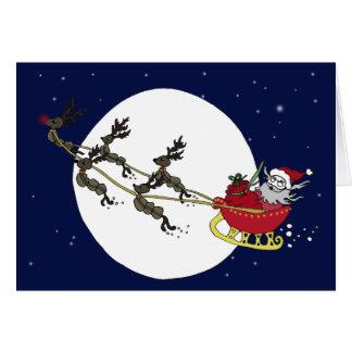 Père Noël et cartes de renne