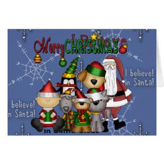Père Noël et la bande Carte De Vœux