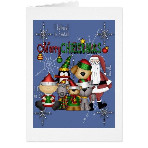 Père Noël et la bande Cartes De Vœux