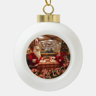 Père Noël et Mme Christmas Ornament 1 Boule En Céramique