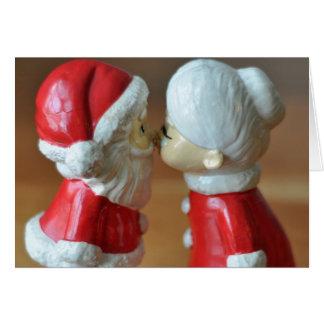 Père Noël et Mme Claus Carte De Vœux