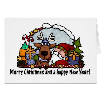 père Noël et Rudolph Cartes