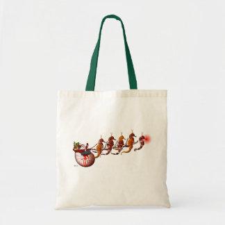 Père Noël et sac fourre-tout à Sleigh d'hippocampe
