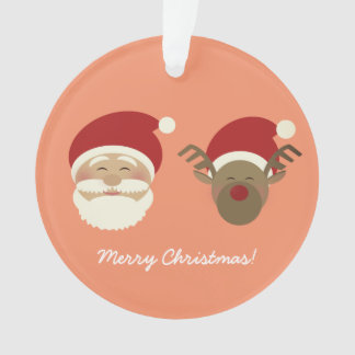 Père Noël et simple mignon de bande dessinée de